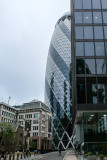 City of London financial district - Another view of the Gherkin