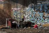train ave. graffiti