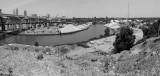 cleveland, cuyahoga river: panorama