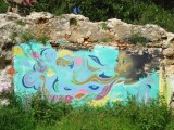 Mural collaboration Garrick Marchena and Valerie Parisius