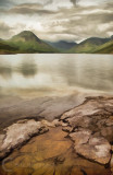 Artistic view of Wastwater in Lake District