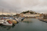 Torquay's inner harbour in winter