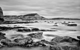 Ladram Bay at low tide near Sidmouth in Devon