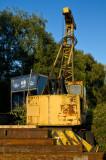 Rusting old crane