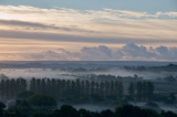 Morning mist over the Culm valley in Devon