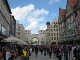 Munich. Karlstor (Karls Gate) at the End of Neuhauser Strasse