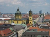 Munich. Theatinerkirche seen from the New Town Hall Tower