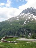 The Bernina Express in Alp Grüm