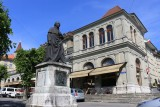 Fribourg/Freiburg. Statue of Father Girard