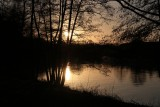 Berlin. Sunset in the Spree River