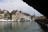 Luzern. The Reuss seen from the Chapel Bridge