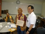 District Goverbor Chris Tamura visits