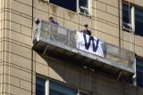 'W' for Washing Windows While Watching Winners