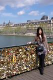 Les  cadenas d'amour  du Pont des Arts.