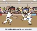 Roy and Bernd- Karate
