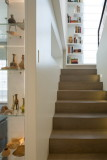 staircase and display cabinet