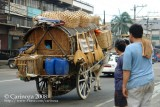 Ox cart with rattan/bamboo-made products (2)