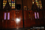 A row of confessional boxes