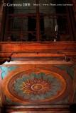 Painted design under the choir loft