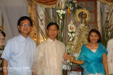 Rev. Fr. Mar DJ Arenas, his brother Mr. Victor Arenas, and Mrs. Zenaida D. Arenas