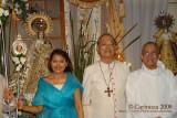 Mrs. Zenaida D. Arenas, Bishop Deo S. Iñiguez Jr., D.D. and Msgr. Moises B. Andrade Jr., H.P.