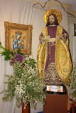 St. Joseph stands by the entrance ...