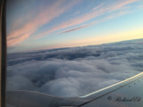 Sundusk from airplane