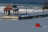 First Fishing Hut of the Season - Dec 16, 2013