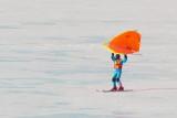 Kite Skiing on Collingwood Harbour 1, Mar. 8, 2014