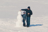 Making a Snowman with Dad on Collingwood Harbour 1 - Mar. 7, 2014
