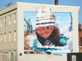 Original Side Launch Mural on the Mountainview Hotel