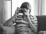 Eric Bristow with Konica Rangefinder Camera