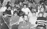 Connie Wilson and Denise Arn on left, Rob Clark Jane Keegan middle back SCS Auditorium 4