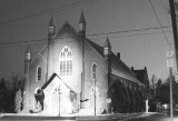 St James United Church at Night - Simcoe, Ontario