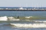 Surfing on Lake Michigan