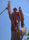 Legerwood ANZAC memorial carving