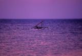 Bali Boat at Sunset