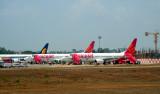 Goa Airport: The Spicejet Fleet