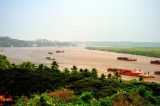 The Mandovi River and the Mining Barges