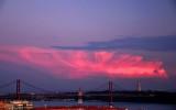 Tagus Bridge After Sunset