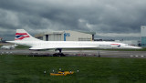BA Concorde, G-BOAB, Waiting For Its Final Fate