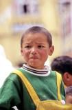 Boy Dressed Like Brazil Flag: Tibetan?