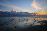 The Unique Sound Of The Gentle Waters In The Sands, At Low Tide, After Sunset