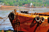Iron Barge w/ Beautiful Landscape Behind
