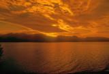 Tropical Sunrise Over The Jackson Lake