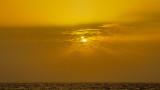 Sunset On Dry Fog