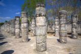 Group of a Thousand Columns Chichen Itza Mexico