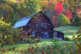 Log Cabin Autumn