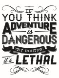 ADVENTURE AT ANY COST....