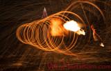 Steel Wool Flame Thrower